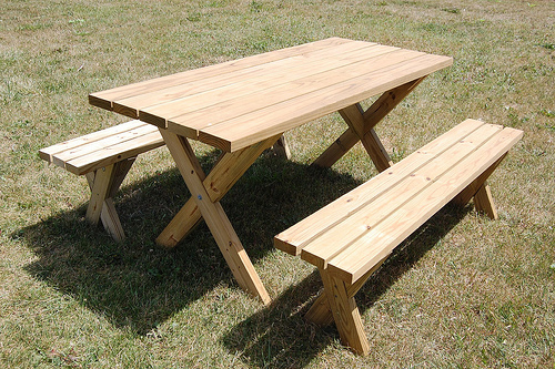 Woodwork Plans Building A Picnic Table With Separate Benches PDF Plans