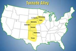 Tornado alley aka. Where I am too chicken to live.