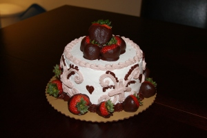 Our first anniversary cake.