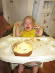 Clearly Kylee is done with her cake.